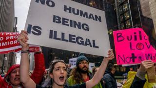 Manifestación en defensa de los inmigrantes.