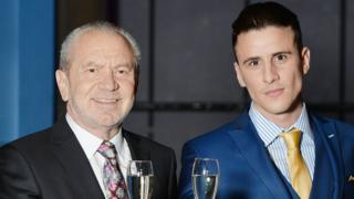 Lord Sugar and Joseph Valente
