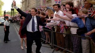 Tony Blair after 1997 general election victory