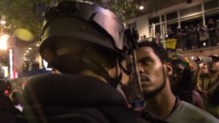 Manifestación en Charlotte