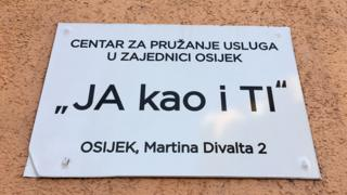 The sign made for the I'm Just Like You centre