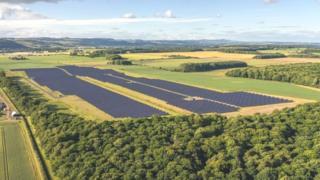 Solar farm currently is at Errol Estate in Perthshire