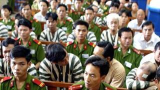 Một phiên tòa xử tham nhũng ở TP HCM