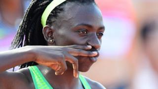 Gold medallist Francine Niyonsaba of Burundi competes during the women's 800m final in Szekesfehervar, Hungary - Monday 18 July 2016