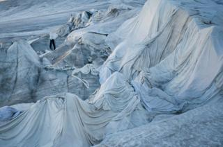 A general view over the Rhone Glacier