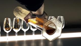 Tasting at a whisky distillery