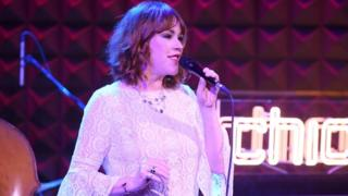 Molly Ringwald performs on stage in March 2018 in New York City.