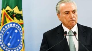 Temer amekuwa marakani tokea kuondolewa madarakani kwa mtangulizi wake Dilma Rousseff kwa kashfa ya rushwa Agosti 31, 2016