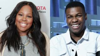Amber Riley and John Boyega