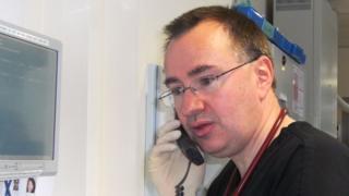Emergency medicine consultant Andy Macnab