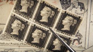 Penny Black stamps
