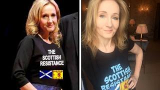 JK Rowling in The Scottish Resistance T-shirt