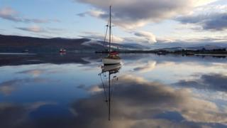 yacht at Lochaber