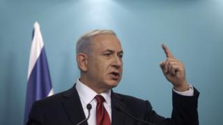 Le premier ministre israélien, Benjamin Netanyahu s'exprimant lors d'une conférence de presse, le 18 novembre 2014, à Jérusalem.