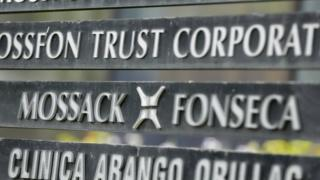 Mossack Fonseca sign at offices in Panama City, archive photo