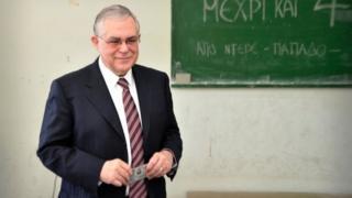 Yunanistan'ın eski başbakanı Lucas Papademos