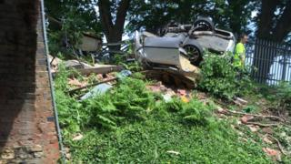 Car crash at Fair Oak