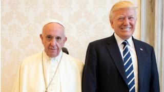 Papa Francesco ABD Başkanı Trump