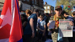Protesta en Seven Sisters