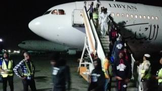 Nigerians arrive home