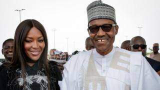 Buhari and Naomi Campbell
