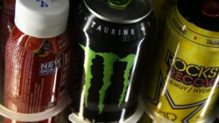 Energy drinks on sale in California