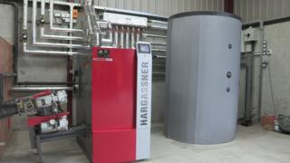 A wood chip boiler accredited to the RHI scheme
