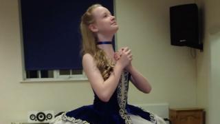 Holly Brown dancing