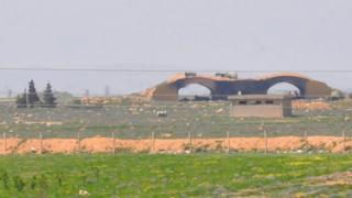 A damaged building at Shayrat airfield, Syria, 7 April