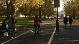 Hyde Park cycle path