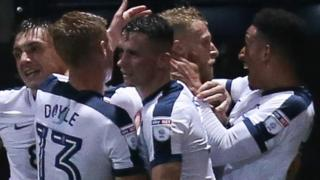 Preston players celebrate