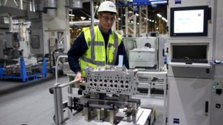 Man working in Ford factory
