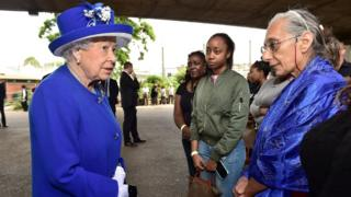 The Queen and members of the public