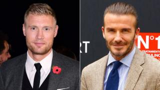 Andrew Flintoff and David Beckham
