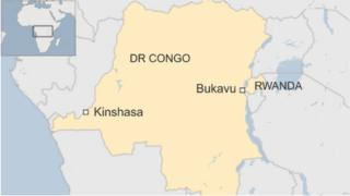Map of DR Congo