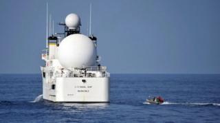 ภาพเรือ USNS Invincible ซึ่งถ่ายไว้เมื่อปี 2012