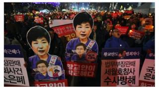 首尔抗议示威