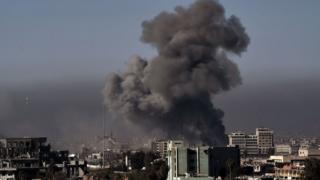 Ataque aéreo sobre Mosul