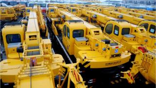Mechanical equipment in a Chinese port