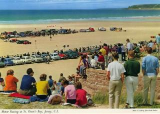 Motor Racing at St. Ouen's Bay, Jersey, Channel Islands by Elmar Ludwig, 1960-1975