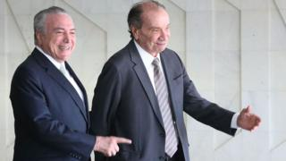 O presidente Michel Temer e o chanceler brasileiro Aloysio Nunes