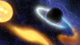 Artists impression of a black hole
