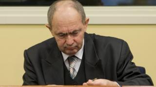 Zdravko Tolimir seen here waiting for his verdict in Dec 2012