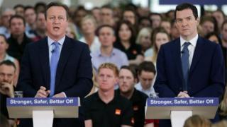 David Cameron and George Osborne at Vote remain speech