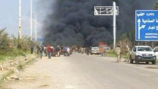 Suriye'deki patlama bölgesi