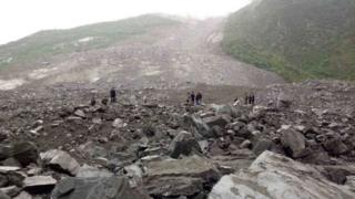 中國四川茂縣山體滑坡 超過100人失蹤