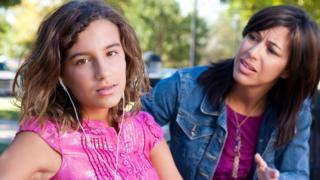 teenage girl with her mum