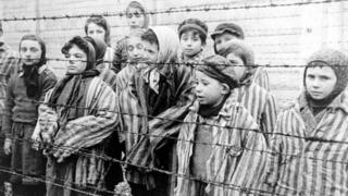 Child survivors at Auschwitz