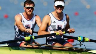 Great Britain's Alan Sinclair and Stewart Innes