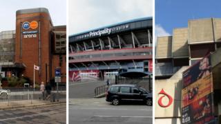 The Motorpoint Arena, Principality Stadium and St David's Hall